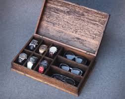 watch box watch case men s watch box watch box for men wood personalized rustic men s watch box for 8 by ourweddinginvites