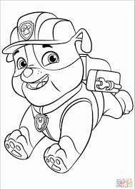 Rubble Paw Patrol Coloring Page Admirable Mooi Paw Patrol Kleurplaat