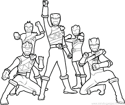 Red Power Rangers Coloring Pages Book Pdf Colouring