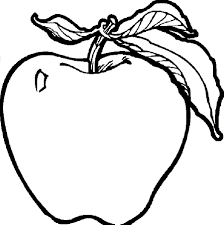 Apple Coloring Pages For Kindergarten With Letter I Preschoolers
