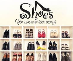 you can never have enough shoes wall art stickers large size princess decals decoration for living room wall adhesives wall applique from yxd13400