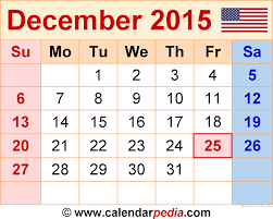 calendars monthly 2015 december 2015 calendars for word excel pdf
