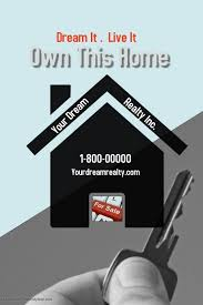 Realtor Sign House For Sale Open House Rent Template