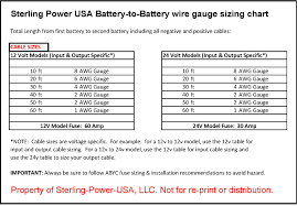 wiring diagrams literature for pro charge ultra marine battery sterling power usa com library battery to battery wire gauge chart jpg