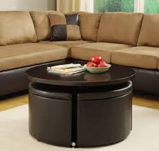 Ottoman Coffee Tables Living Room Round Coffee Table With Storage Furniture In Black Lacquer Antique