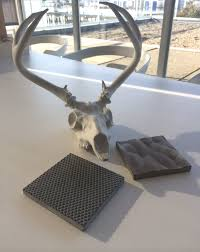 ductal textured panels and concrete antlers | UHPC concrete ...