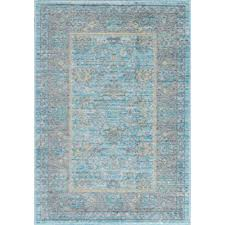 2 x 3 accent rugs new tayse rugs heritage aqua 2 ft x 3 ft area
