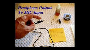 headphone output stereo mix to mic input for recording