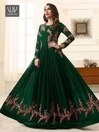 Captop Dress Design Buy Sophie Chaudhary Green Bollywood Anarkali Vjv Fashions