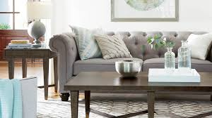gray tufted upholstered sofa in living room