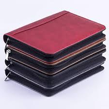 senarai harga kawaii faux leather a5 padfolio with calculator zipper binder notebook briefcase file folder vintage spiral travel note book terbaru di