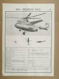 Helicopter Recognition Chart Vintage 1987 Ussr Soviet Military Forces Army Field Uniforms