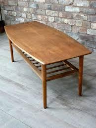 coffee tables retro high end mid century teak coffee table with rack retro era vintage