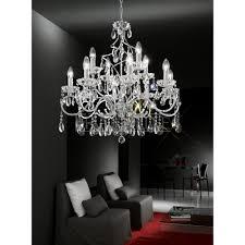 franklite fl2188 12 chiffon silver crystal chandelier