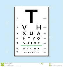 Eyes Test Chart Stock Vector Illustration Of Eyeglasses