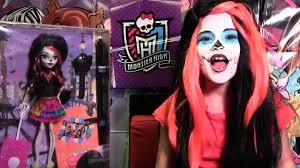 skelita calaveras monster high doll costume makeup tutorial for cosplay or sugar video dailymotion