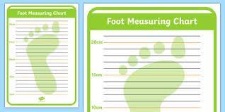 Shoe Shop Role Play Foot Measuring Chart Shoe Shop Shoes