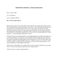 Recycling Program Announcement