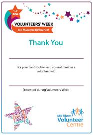 Volunteer Certificates Volunteers Week