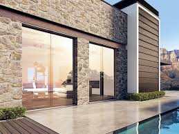 aluminium and wood patio door cloud glass patio door by bg legno