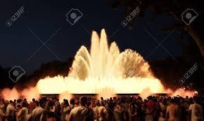 Light Show Fountain Barcelona Barcelona July 19 2018 Magic Fountain Montjuic Light Show