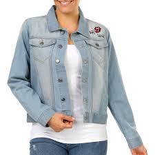 rolling stones women s denim jacket blue