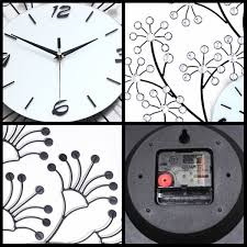 3d large flower tree decor crystal iron wall clock w wall hooks 30 7 l hover to zoom 3d large flower tree decor crystal iron wall clock