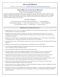 Senior Mechanical Engineer Sample Resume 17 Engineering With