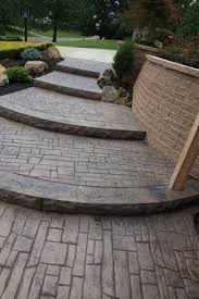 stamped concrete patio with stairs.  Patio Cascading Stamped Concrete Steps  Outdoor Ideas Pinterest  Steps Concrete And Intended Patio With Stairs