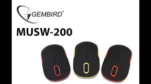 Беспроводные <b>мыши Gembird MUSW</b>-200 - YouTube