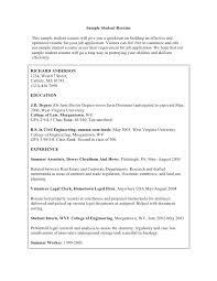 Graduate School Resume Sample Mesmerizing Sample Graduate Resume Sample Student Resume This Sample Student