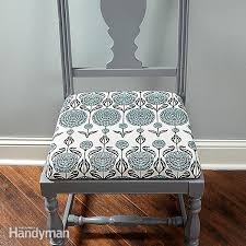 how to upholster a chair the family handyman for best fabric to reupholster kitchen chairs