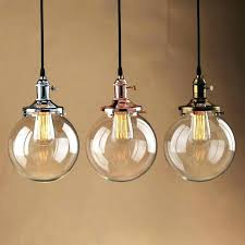 edison bulb hanging light vintage industrial pendant glass globe shade ceiling lamp with star 3 lights