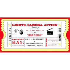 Movie Ticket Template Free Download Template Invitation Ticket Template 5