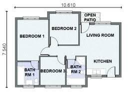 3 Bedroom Open Floor House Plans Impressive Inspiration Design