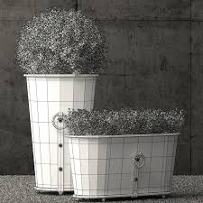 restoration hardware outdoor planters best of restoration hardware estate zinc ring round planters 3d model 19