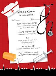 Nursing Graduation Party Invitations Nurses Orders Invitations By Noteworthy Collections