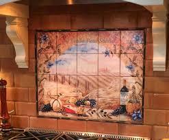 Tile Murals For Kitchen Italian Tile Murals Tuscany Backsplash Tiles