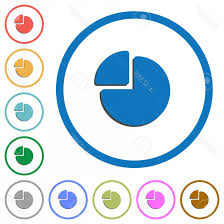 Photostock Vector Pie Chart Flat Color Vector Icons With