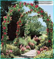 garden arch for flowers on the dacha