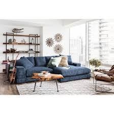 aurelle home reversible deep seat contemporary sectional sofa on today overstock 9487399