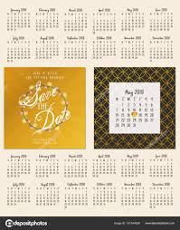 Card Calendar Design Save The Date Wedding Invitation Double Sided Card Design