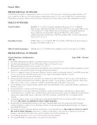 Sample Oracle Dba Resume Server Resume Sample Developer Resume Adorable Resume For Oracle Developer