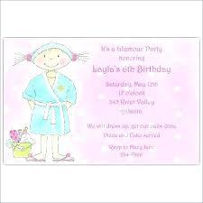 Spa Birthday Invitation Template Day Party Invitations Mask Free