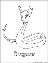 Small Picture Pokemon Coloring Pages Dragonair Coloring Pages
