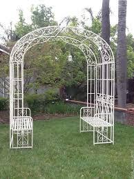 metal garden arbor with bench 169 best garden arch images on garden