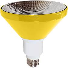 illumin8 par38 yellow indoor outdoor led flood light bulbs non dimmable environmentally friendly no lead or