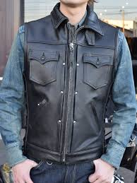 leather best riders leather club vest full collar real deal