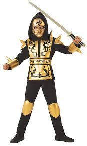 Ninja Suit Size Chart Gold Ninja Boys Costume