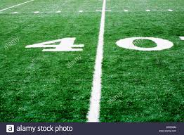 grass american football field. 40 Yard Line On American Football Field Grass T